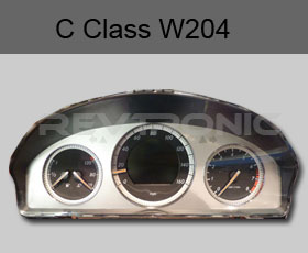 Mercedes C Class W204 Instrument Cluster Speedo Clocks No Power