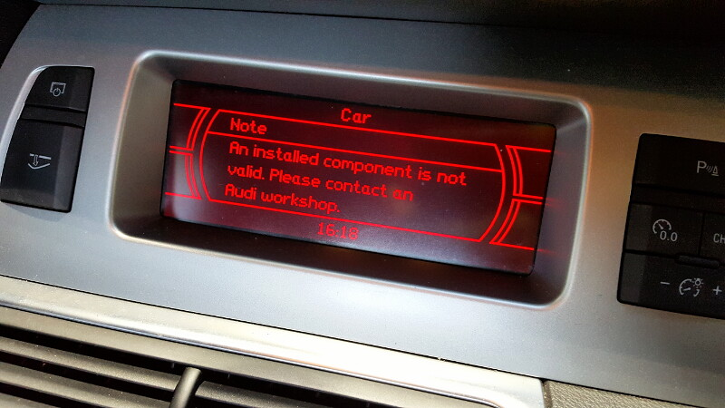 Audi Q7 CD Component Protection Coding