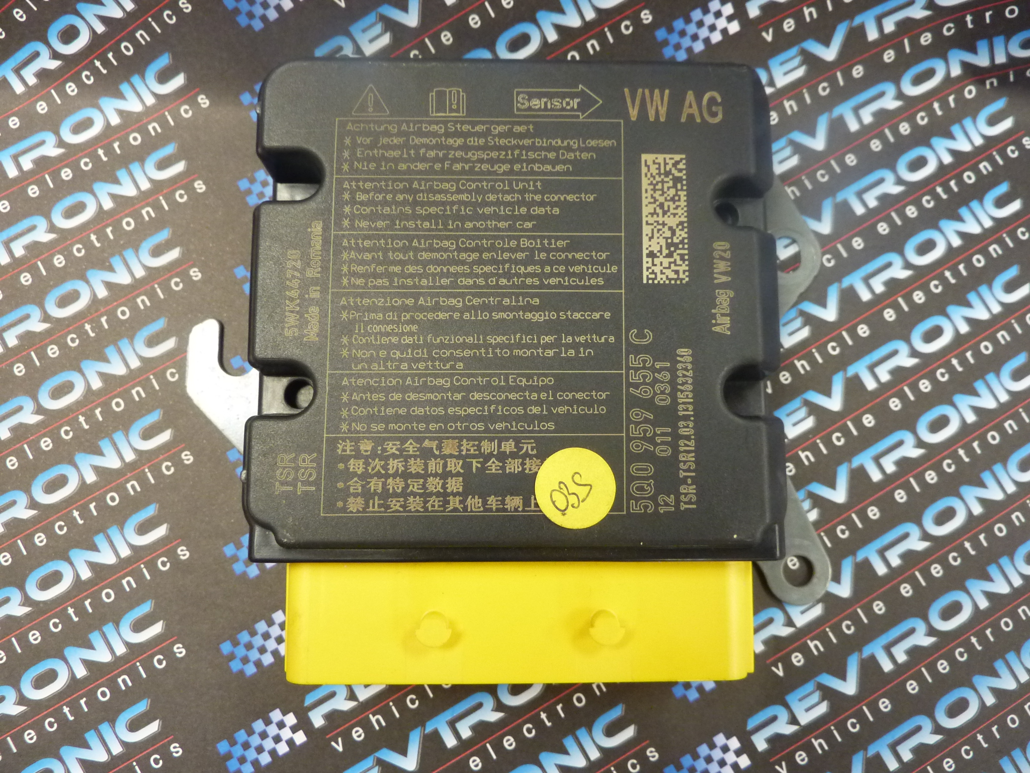 VW Golf VII SRS 5Q0 959 655 C - Air Bag ECU Reset Service