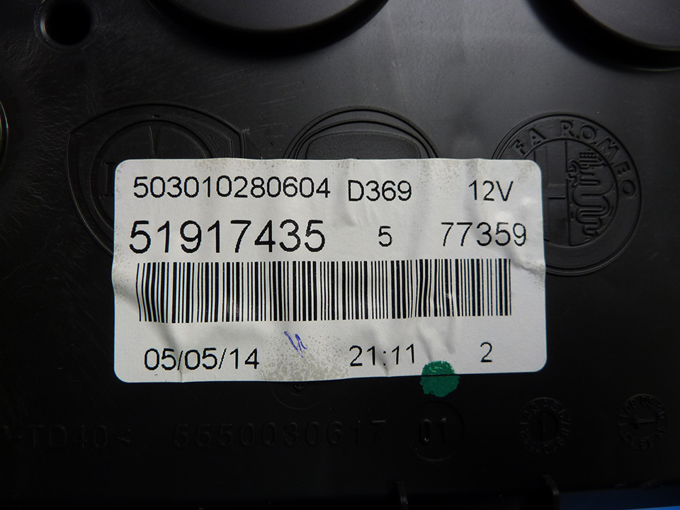Fiat Punto Instrument Cluster Repair For Background Warning Lights On Dim
