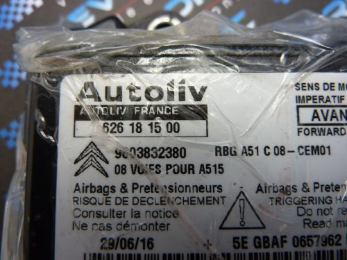 Citroen DS3 - 626 18 15 00 - air Bag ECU Reset Service