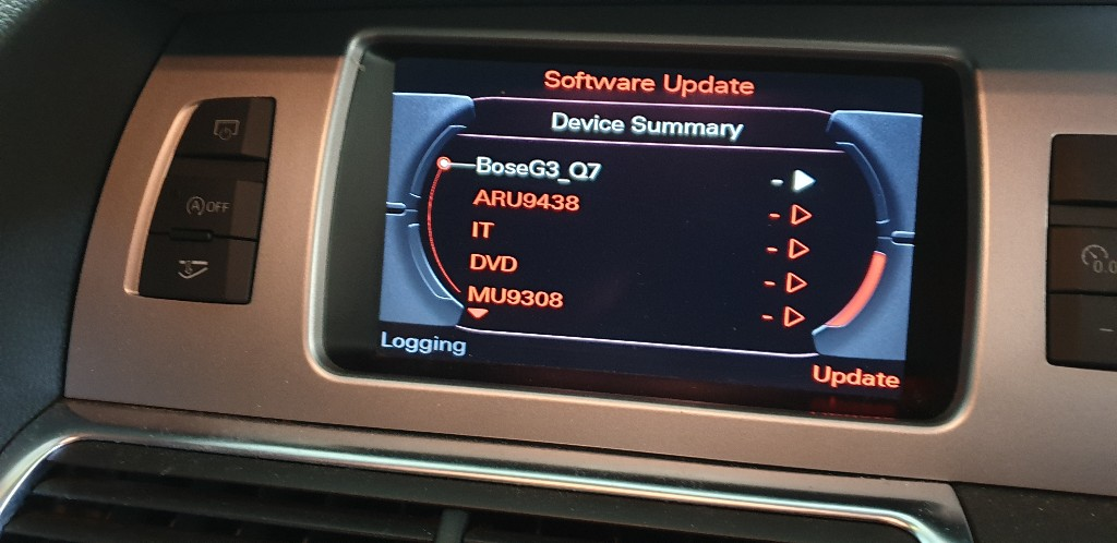 Audi Bose Amplifier Fader Not Working After Software Update