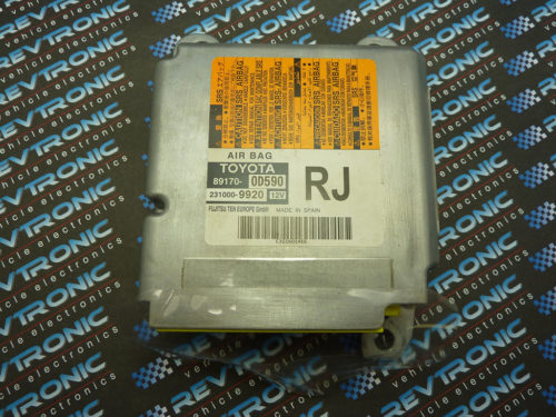 Toyota Yaris SRS Airbag ECU control module 89170-0D590 crash data reset