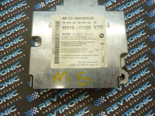 Hyundai Ioniq 95910-G2400 Airbag ECU Control Module SRS Crash Data Clear