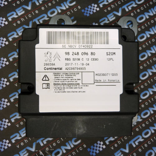 Citroen C3 2017 9824809680 Airbag ECU Module SRS Crash Data Reset Service